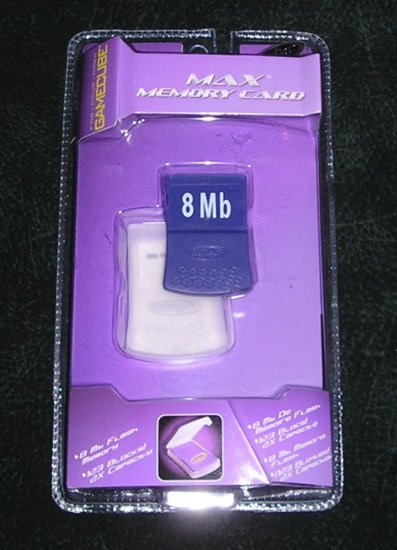 Nintendo Gamecube Max Memory Card 8Mb By Intec #G5120