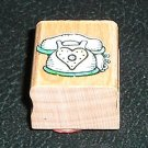 Rubber Stamp Mounted On Wood Love To Chat By Penny Black #863A From 1996