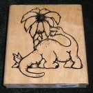 Rubber Stamp Mounted On Wood Big Dino By D.O.T.S. #R124