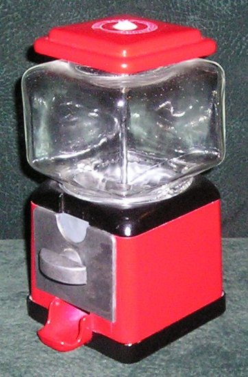 Topper Square Gumball Machine By Olde Tyme Reproductions Red