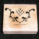 Rubber Stamp Decorative Pattern By Stampin' Up! 1999