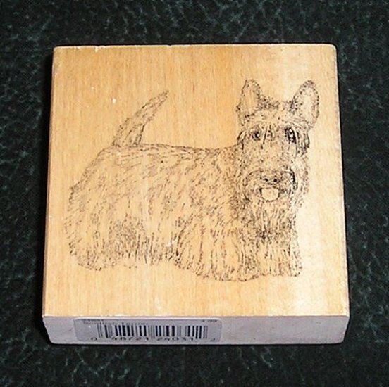 Rubber Stamp Mounted On Wood Scottish Terrier By Stamp Gallery