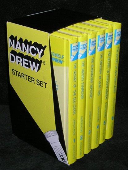 Nancy Drew Starter Box Set by Carolyn Keene Volumes 1-6 Hardcover Books