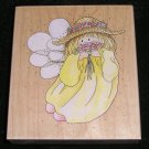 Rubber Stamp Mounted On Wood Sunshine By Stamps Happen 70021