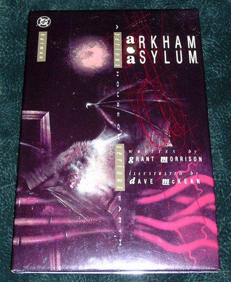 Batman Arkham Asylum Hardcover Book With Dust Jacket DC Comics Graphic Novel 1989