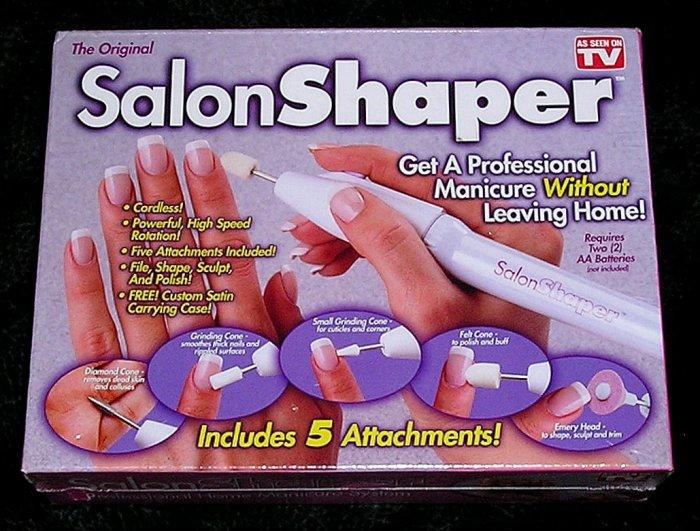 The Original Salon Shaper Electric Manicure Set Professional Home Manicure Kit New
