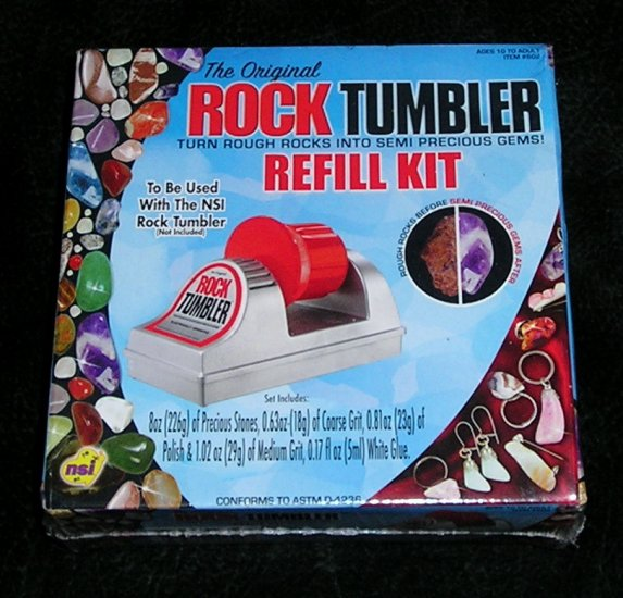 The Original Rock Tumbler Refill Kit New And Sealed