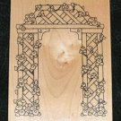 Rubber Stamp Mounted On Wood Arch By Darcies Z1995