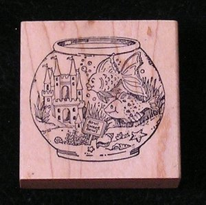 Rubber Stamp Mounted On Wood Bowl Sweet Bowl By Delafield Stamp Company G794