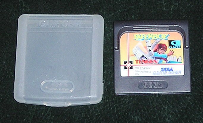 Original PaperBoy Game Gear Sega With Hard Plastic Protective Case