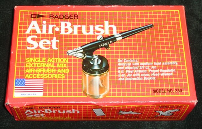 Air Brush Set By Badger New And Sealed
