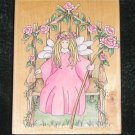 Rubber Stamp Mounted On Wood Queen Rose By Stamps Happen 80100