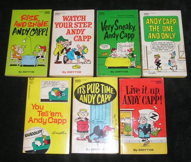 7 Andy Capp Book Collection By Smythe The UK's Daily Mirror Published By Fawcett Publications