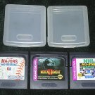 3 Game Gear Sega Games Moral Kombat II, NHL All Stars Hockey And The Majors Pro Baseball