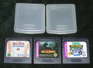 3 Game Gear Sega Games Moral Kombat II, NHL All Stars Hockey And The Majors Pro Baseball