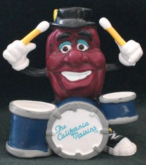 Rare Califonia Raisin PVC Figure Drummer By Applause