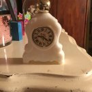 Avon 1974 Leisure Hours Milk Glass Mantel Clock