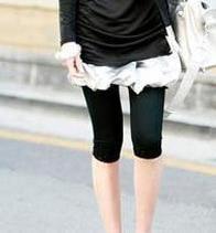 CM-101 Elastic 3/4 Leggings - Black
