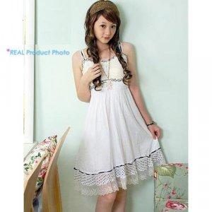 Hot Sale CM - 012 Sleeveless Bohemia Dress- White