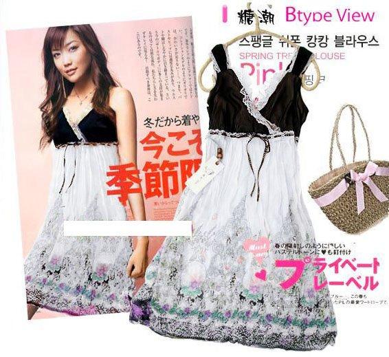 Hot Sale- Lady Floral Dress - Brown