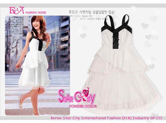 ECA One-Piece ECA7T-21026 Dress ( White)