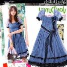 JE1789 Elegant Cotton Yarn Dress ( Light Brown)