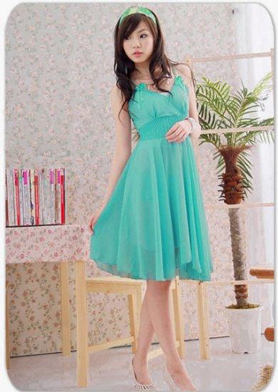 Hot Sale- Chiffon Dress - Bright Green