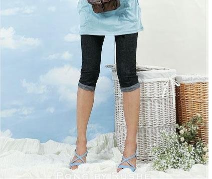 YC577 Black Demin Legging