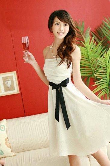 JK6003 Beautiful Tube Dress - White