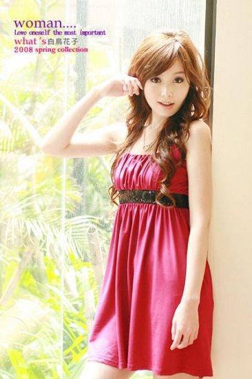 2242 Sweet Ladies Dress - Red