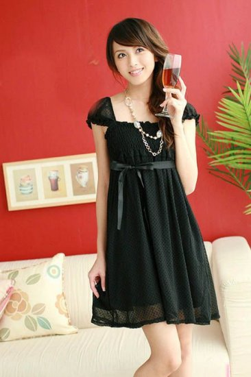 T979042 / YC3021 Sweet Girl Dress - Black