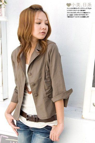 K5YC3683 / 3P9ML8225 Fashionable Jacket - Coffee Brown