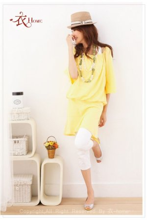 Q2ML8251 - Simple Relaxing Top -  Yellow