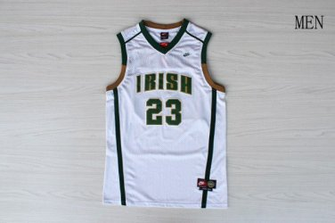 san francisco 24a7e e7199 Irish High School Cool LeBron James 23# White Stitched Jersey
