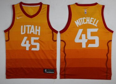 new concept 4ba5a 66f8c Youth Utah Jazz City Edition 45 Donovan Mitchell Stitched ...
