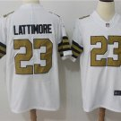 Men's New Orleans Saints 23 Marshon Lattimore Limited Stitched Jersey White
