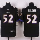 Men's Baltimore Ravens 52# Ray Lewis Elite Stitched Jersey Black