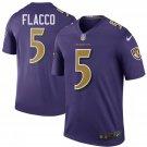 Men's Baltimore Ravens 5# Joe Flacco Game Player Stitched Jersey Purple