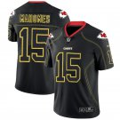 Men's Chiefs #15 Patrick Mahomes II Lights Out Stitched Jersey Black NEW