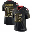 Men's Kansas City Chiefs #15 Patrick Mahomes II Lights Out Stitched Jersey Black