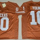 Men's Texas Longhorns Vince Young #10 Orange College Football Stitched Jerseys