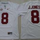 Men Alabama Crimson Tide 8 Julio Jones White College Football Stitched Jersey