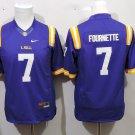 Youth LSU Tigers 7 Leonard Fournette Purple College Football Stitched Jersey