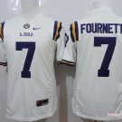 YOUTH LSU Tigers #7 Leonard Fournette White College Football Stitched Jersey