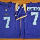 Men's LSU Tigers Patrick Peterson #7 Purple College Football Stitched Jerseys