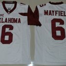 Youth Kids Oklahoma Sooners Baker Mayfield #6 White College Football Stitched Jerseys