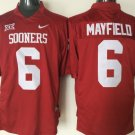 Men Oklahoma Sooners 6 Baker Mayfield College Football Stitched Jersey RED