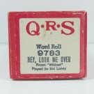 QRS Player Roll Word Roll 9783 Hey, Look Me Over Wildcat Played by Sid Laney