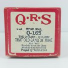 QRS Player Piano Roll 2382 That Old Gang Of Mine Played by Victor Arden Fox Trot