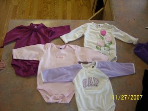 4 infant girl GAP onesies!